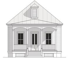 Coastal Home Plans - Civitas Cottage. Nice floor plan and only one story.