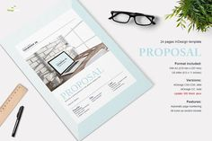 Thompson Proposal - 24 pages by Imagearea on @creativemarket