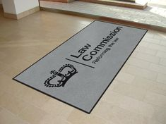 Mats Nationwide are proud to supply the Law Commission with branded non slip custom logo mats.