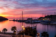 Vrsar Port During Colorful Sunset-Istria,Croatia