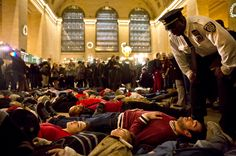 Dec 4, 2014 TODD HEISLER/THE NEW YORK TIMES Protesters at Grand Central Terminal on Wednesday after a grand jury decided not to indict a police officer in Eric Garner's death.