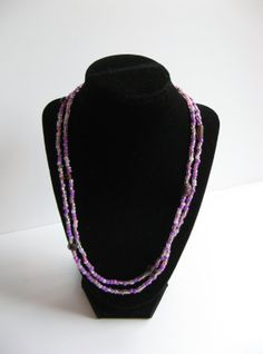 Hey, I found this really awesome Etsy listing at https://www.etsy.com/listing/168750815/shades-of-purple-bead-and-stone-necklace
