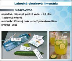 Levně a chutně s Ladislavem Hruškou - Lahodná okurková limonáda Juice, Food And Drink, Soap, Personal Care, Drinks, Bottle, Smoothie, Drinking, Self Care