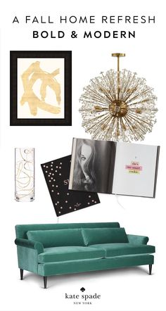 bring in bold, modern pieces and pops of lush color to refresh your home look for fall.