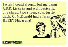 Sleep with a d d