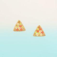 [50]ゴールドお花畑ピアス