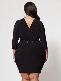12f9f2873ec955 Plus Size Girl Boss Belted Dress - Fashion To Figure