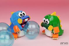Arcade classic Bubble Bobble in perfect LEGO form
