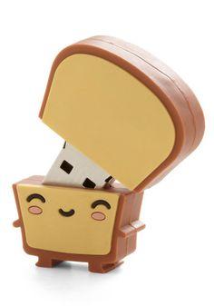 Toast Cute USB stick shaped like a kawaii slice of bread.Cute USB stick shaped like a kawaii slice of bread. Usb Drive, Usb Flash Drive, Usb Stick, Cute Stationary, Cute School Supplies, All Things Cute, Kawaii Cute, Kawaii Stuff, Kawaii Things