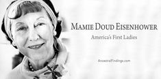 Mamie Doud Eisenhower was the 34th First Lady of the United States. From a wealthy Iowa family, she became an Army wife to Dwight D. Eisenhower, and then First Lady of the USA, and the 1st First Lady to be a fashion icon, too. Here is her story.