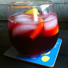 Sangria! Red wine, fresca and fruit!