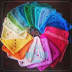Ich wurde gefragt ob ich von meiner crochet mood blanket 2014 mein Standart Granny, das Solid Square als Foto Anleitung mit euch teile. S...