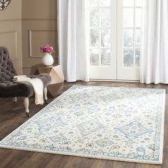 Safavieh Evoke Ivory/ Light Blue Rug (5'1 x 7'6)