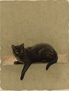 Miss Piglet ( is a cat) pastel drawing, 1991 Claudio Bravo
