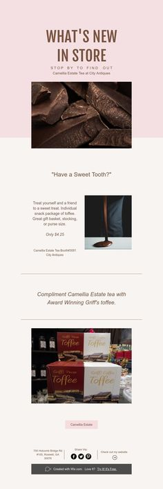 """""""Have a Sweet Tooth? Camellia, Whats New, Compliments, Sweet Tooth, How To Find Out, Sweet Treats, Passion, Tea, Antiques"""