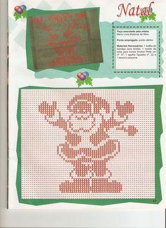 Mais ponto oitinho de natal clique em:   http://www.uniami-crochet...
