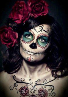 Elegance Dia de Los Muertos make up