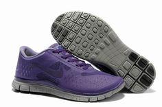 Herren Nike Free 4.0 V2 Schuhe Grau Lila