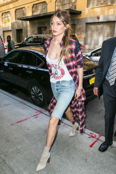 Gigi Hadid Gives the Duster Jacket a Grunge Makeover