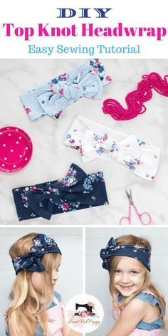 Knot Bow Head Wrap Sewing Tutorial Learn How to Make this DIY Infant, Girls amp; Women s Top Knot HeadWrap Bow Sewing Pattern.Learn How to Make this DIY Infant, Girls amp; Women s Top Knot HeadWrap Bow Sewing Pattern. Turbans, Sewing Hacks, Sewing Tutorials, Sewing Tips, Sewing Ideas, Sewing Crafts, Diy Tops, Women's Tops, Leftover Fabric