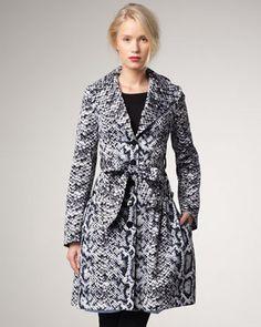 New $598 Nanette Lepore Wrapped Snake Print Coat Size 4 | eBay