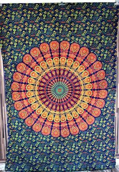 "90"" Mandala Tapestry, Indian wall hanging,Hippie Hippy boho Tapestry Throw Cotton Bed cover Bohemian Bed Decor Bed Spread Ethnic Decorative"