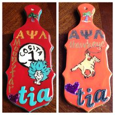 Paddles made for the twins nice and nephew! Moonstar and Hawkeye Alpha Psi Lambda #Apsi