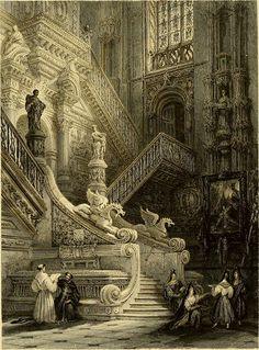 Escalier Art, Royal Crowns, Iglesias, Buildings, History, Interior, Ideas, Building Illustration, Building Architecture