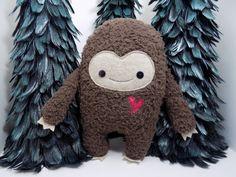 Big Foot stuffed toy, big foot plushie, kawaii big foot plush doll, monster stuffed animal, monster, sasquatch toy