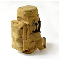 Military Tactical Hiking MOLLE Zipper Water Bottle Pouch Bag Carrier Bottle Bag, Water Bottle, Molle Rucksack, Pouch Bag, Two By Two, Walmart, Hiking
