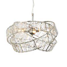 Procopio faceted glass clear 2 lamp pendant ceiling light sagitta pendant chrome effect 3 lamp pendant lamp mozeypictures Gallery