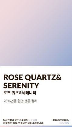 Color of today: Rose Quartz & Serenity Design Serenity Color, Rose Quartz Serenity, Rose Quartz Color, Pantone Colour Palettes, Pantone Color, Colour Dictionary, Color Patterns, Color Schemes, Aesthetic Colors
