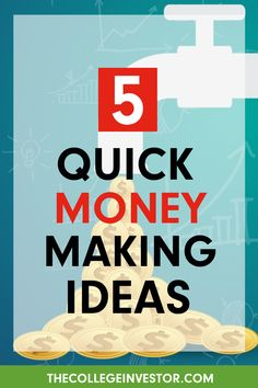 Want to make some extra money on the side without taking on a part-time job or being tied down to a client? Want to make this money in less than an hour? ⏰ Here are five quick ways to do it! 💰 Earn Extra Cash, Extra Money, Make Quick Money, Earn More Money, Part Time Jobs, Making Ideas