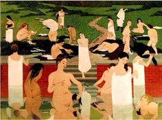 Felix Vallotton, Le bain au soir d'été, 1889