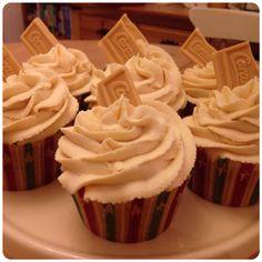 Caramel Cupcakes with Caramac Frosting | vanilla sugar steph
