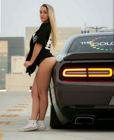 Trucks And Girls, Car Girls, Sexy Cars, Hot Cars, Woman In Car, Mopar Girl, Drag Cars, Performance Cars, Dodge Challenger