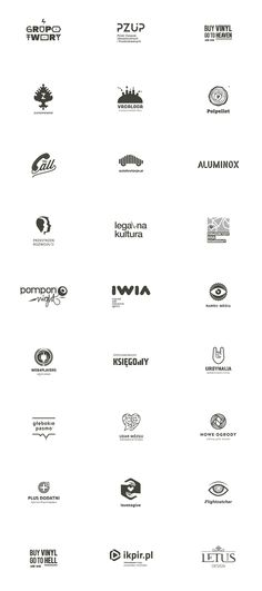 Selected logos created from 2007 - 2014 by Polish freelance graphic designer Łukasz Kowalik aka Beetroot Graphics. Łukasz Kowalik is a Warsaw, Poland based Logos, Typography Logo, Graphic Design Typography, Logo Branding, Branding Design, Freelance Graphic Design, Creative Logo, Cool Logo, Design Reference