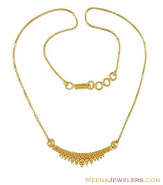 Indian Gold Necklace 22kt Fancy Chains