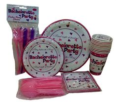 A fun and easy bachelorette party set of Plates, Cups, Trivia Napkins, pecker straws and pink utensils, this Hott Set is a great buy! Party Napkins, Party Plates, Party Tableware, Bachelorette Party Drinks, Plastic Ware, Bride Shower, Party Rings, Party Kit, Party Signs
