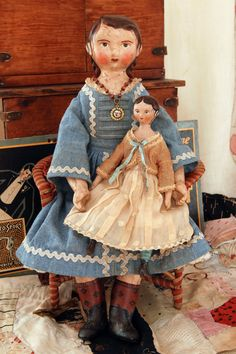 Miss Beatrice LaSalle a papier mache and by LoraSolingHandMade