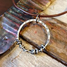 Entwined Necklace on Leather