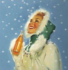 ... snow and orange drink