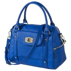 MERONA Blue Turnlock Satchel. Just love the colour ~ $39.99 from target.com