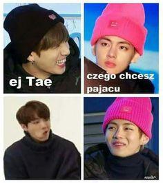 K Meme, Funny Kpop Memes, Bts Memes, K Pop, Asian Meme, Polish Memes, I Love Bts, Funny Faces, Taekook