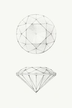 how to draw gemstones step by step