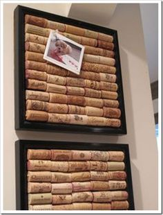Wine cork bulletin boards