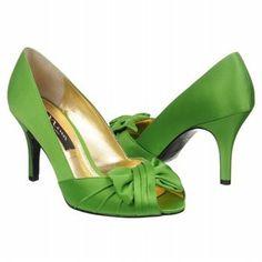 Nina Forbes Shoes Apple Green Satin