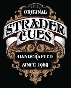 Strader Cues - T-Shirt Lettering by Andreas Grey