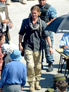 Brad Pitt...first time I have seen him looking good in a long time