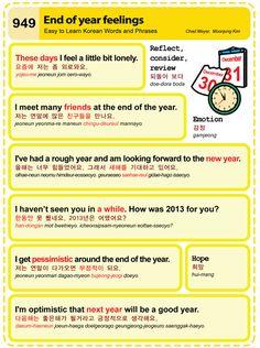 Easy to Learn Korean 949 - End of Year Feelings.